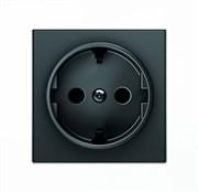 Накладка для розетки SCHUKO, серия SKY, цвет чёрный бархат