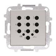 Накладка для механизма электронного выключателя с кодовой клавиатурой 8153.5, серия SKY, цвет серебристый алюминий