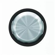 Клавиша для 1-клавишных выключателей/переключателей/кнопок, серия SKY Moon, кольцо чёрное стекло