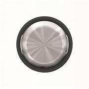 Клавиша для 2-клавишных выключателей/переключателей/кнопок, серия SKY Moon, кольцо чёрное стекло