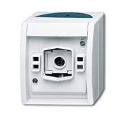Корпус светового сигнала для ламп с цоколем Е-10, для открытой установки, IP44, серия ocean, цвет серый/сине-зелёный