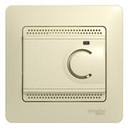 GLOSSA ТЕРМОСТАТ электр.теплого пола с датчиком,от+5до+50°C,10A,в сборе, БЕЖЕВЫЙ