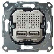 MERTEN USB МЕХАНИЗМ зарядного устройства с 2-мя разъемами 2,1А (2x1,05А)