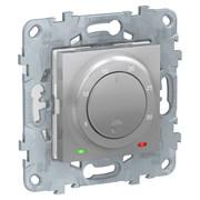 UNICA NEW термостат электронный, 8А, встроенный термодатчик, алюминий