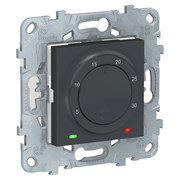 UNICA NEW термостат электронный, 8А, встроенный термодатчик, антрацит