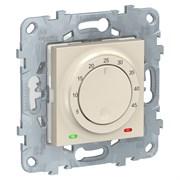 UNICA NEW термостат теплого пола, 10А, выносной термодатчик, бежевый