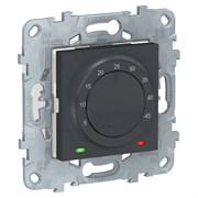 UNICA NEW термостат теплого пола, 10А, выносной термодатчик, антрацит