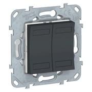 UNICA NEW KNX 4-кнопочный выключатель, АНТРАЦИТ