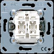 Jung Выключатель 10AХ 250V универсальный сдвоенный 509U