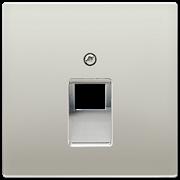 Jung Крышка для одинарной телефонной и компьютерной розетки UAE; благородная сталь, арт. ES2969-1UA