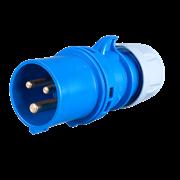 Вилка кабельная 16А/230V/1P+N+E/IP44 013-6tt
