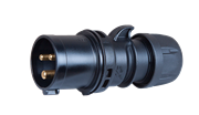 Вилка каб черн 16А/230В/3П/IP44