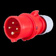 Вилка каб 16А/400В/4П/IP44