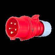 Вилка каб 16А/400В/5П/IP67