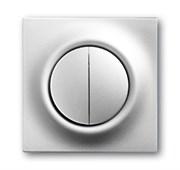 Клавиша для механизма 2-клавишных выключателей/переключателей/кнопок, серия impuls, цвет серебристый металлик