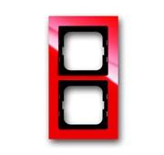 Рамка 2-постовая, серия axcent, цвет красный