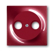 Накладка (центральная плата) для TV-R розетки, серия impuls, цвет бордо/ежевика