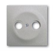 Накладка (центральная плата) для TV-R розетки, серия impuls, цвет серебристый металлик